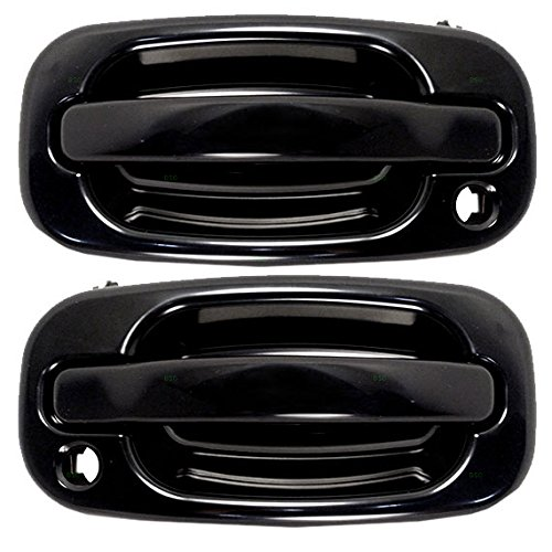 - Pair Set Front Outside Exterior Door Handles w/Keyholes Replacement for 99-07 GM Pickup Truck 00-06 SUV 19245505 19356469 AutoAndArt