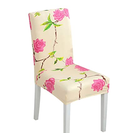 Fheaven (TM) Seat Cover - Stretch Spandex Dining Room Chair Covers with  Printed Pattern acf59ce40