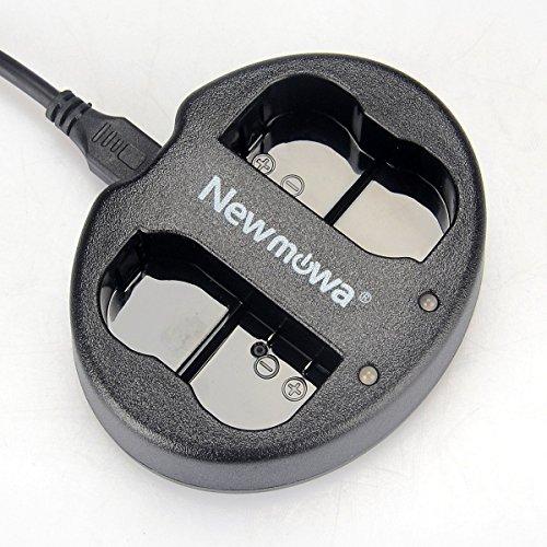 Newmowa Dual USB Charger for Nikon EN-EL15 and Nikon 1 V1, D600, D610, D750,D800, D800E, D810, D7000, D7100,D7200