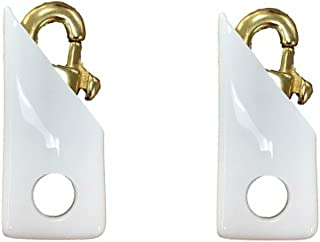 product image for Martin's Flag Flagpole Brass Swivel Clips with Noise Cancelling Vinyl Covers, Eliminates The clanking Noise! (4)
