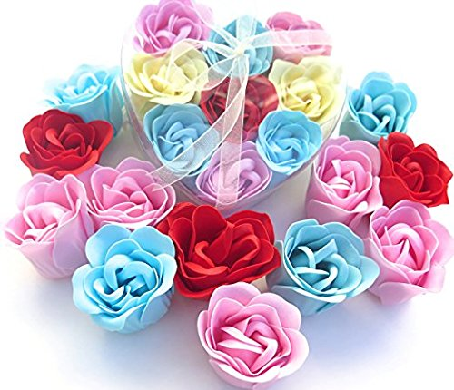 Rose Scent Bath Bomb, Nine Colorful Rose Flower with Hear...