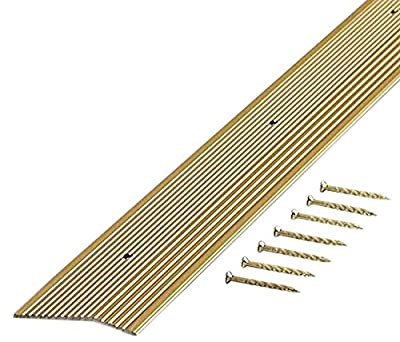 M-D Building Products 78071 Fluted 1-3/8-Inch by 36-Inch Carpet Trim, Silver