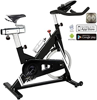 2e1ea125ed AsVIVA Indoor Cycle Cardio and Speed Bike S14 Bluetooth with SPD Klick  Pedals & Pulse Receiver incl. Heart Rate Belt, 23kg Flywheel Mass, Smooth  Felt Brake, ...