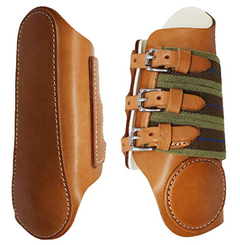 Professional Equine Horse Medium Leather Horse Sports Medicine Splint Boots Amish Made in USA Tack -