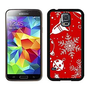2014 Latest Christmas snowflake Black Samsung Galaxy S5 Case 2