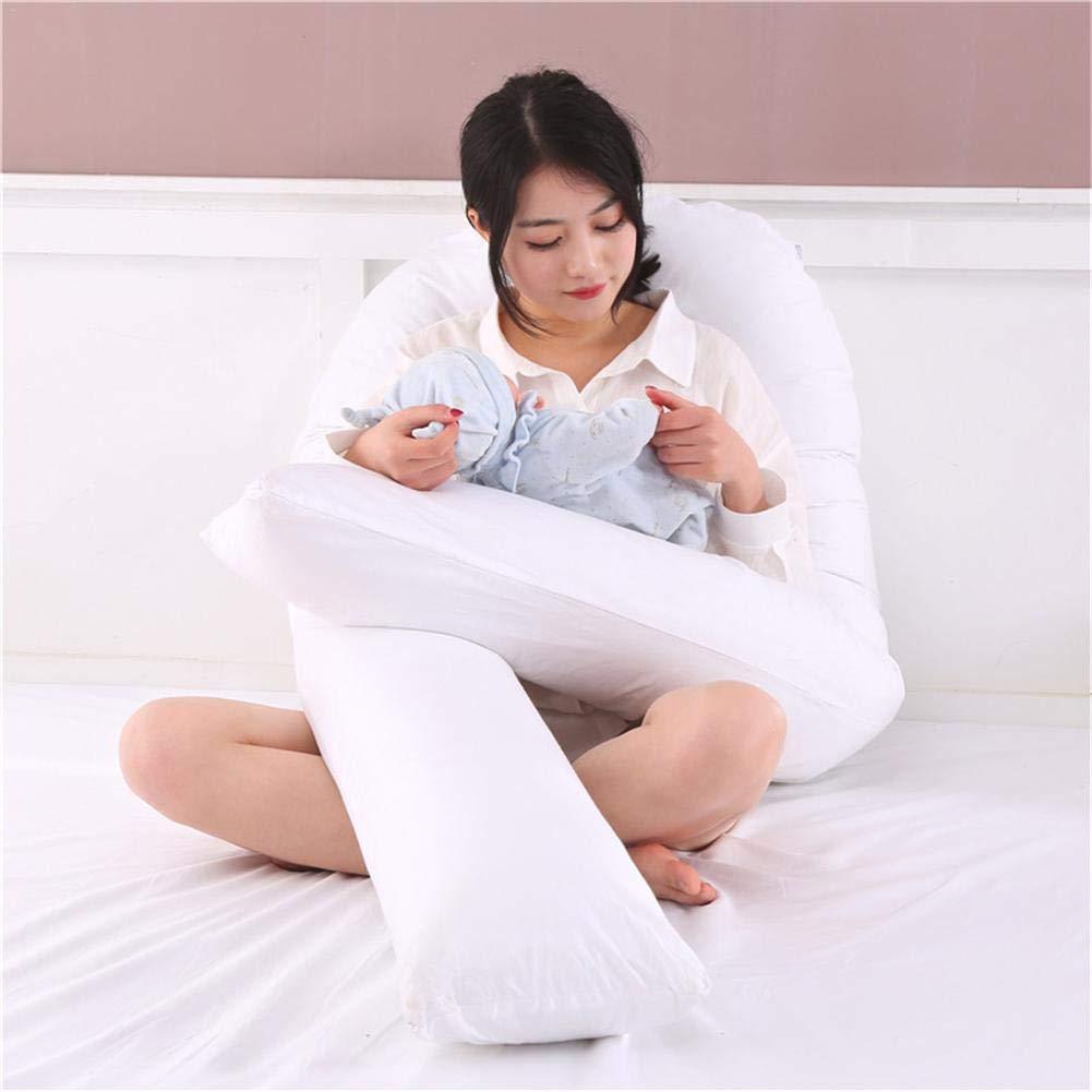 Navigatee Almohada de Embarazo de Cuerpo Completo Almohada Grande en Forma de U para Mujeres Embarazadas Almohada de Maternidad Multifuncional Almohada de Maternidad Funda de Almohada 100/% algod/ón
