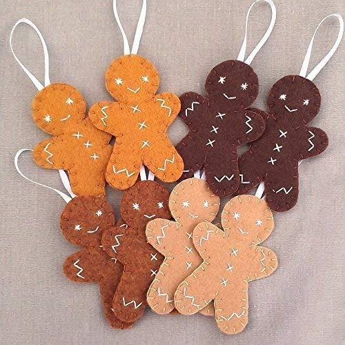 8 cute gingerbread man ornaments christmas cookie decorations - Christmas Cookie Decorations