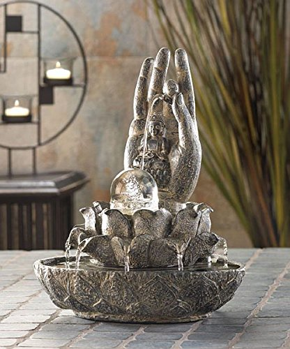 Tabletop Relaxation Buddha Fountains Garden Waterfall Indoor