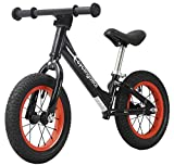CyclingDeal Alloy Kids Push Balance No-Pedal Bike 12'' Black