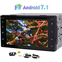 Free Wireless Backup Camera Included! Eincar Android 7.1 Car Stereo Universal 2 Din In Dash Car DVD Player 6.2 Capacitve Touch Screen Support GPS Navigation SWC/Phone Link/OBD2/DAB+/3G/4G WIFI Cam-In