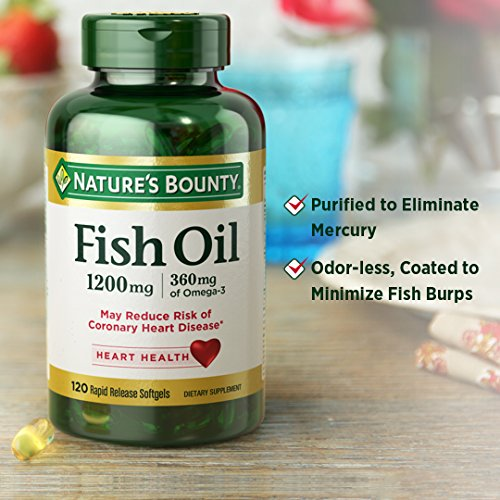 Nature 39 s bounty fish oil 1200 mg omega 3 200 rapid for Nature s bounty fish oil 1200 mg