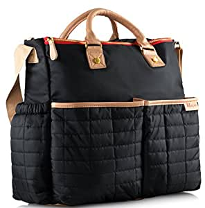 diaper bag by maman with matching changing pad stylish designer tote for moms. Black Bedroom Furniture Sets. Home Design Ideas
