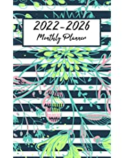 2022-2026 Monthly Pocket Planner: Hand Draw Flower Cover|2022-2026 Five Year Monthly Planner with Holidays|Agenda Planner For The Next Five Years, 60 Months Calendar, Appointment Notebook ... cover|60 Months Academic Notebook