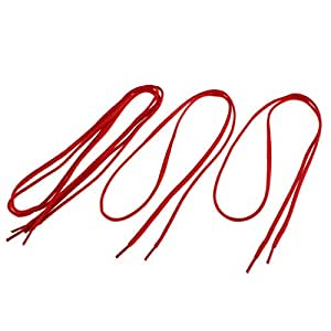 Cotton Blends Sports Shoes Shoelaces String 112cm Length Red 2 Pairs