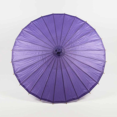 Quasimoon PaperLanternStore.com 20 Inch Purple Paper Parasol Umbrella ()