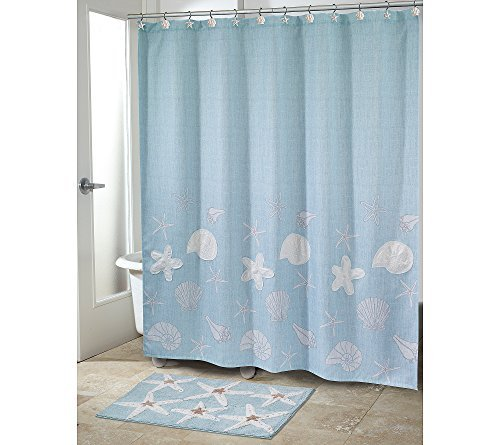 "Avanti Bath, Sequin Shells 72"" x 72"" Shower Curtain Bedding"