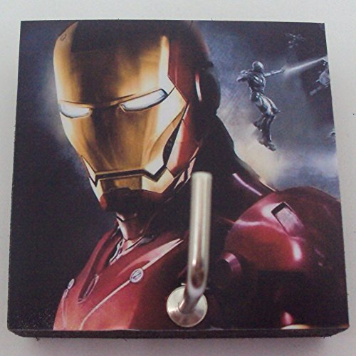 Agility Bathroom Wall Hanger Hat Bag Key Adhesive Wood Hook Vintage Red Iron Man's (Simple Iron Man Costume)
