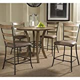 Hillsdale Furniture 5-Piece Counter Height Round Wood Dining Set Review