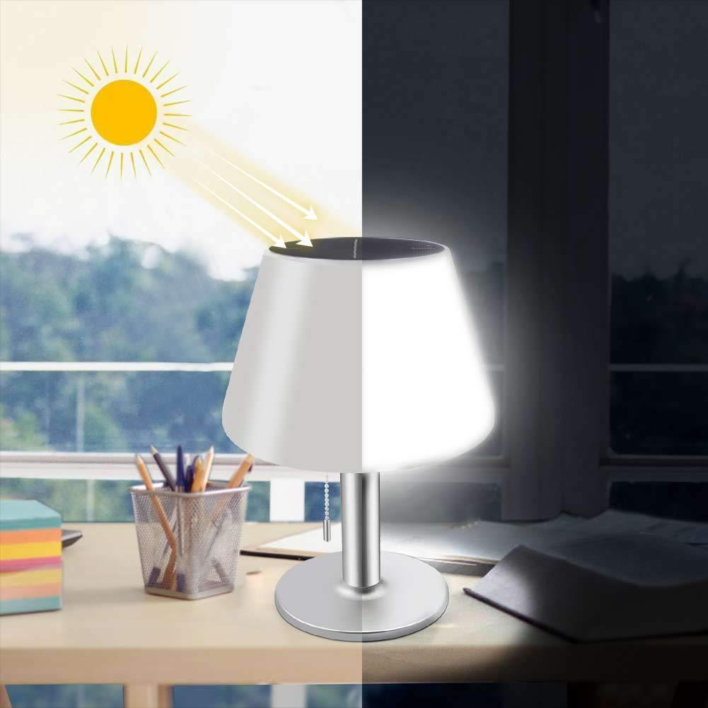 Led Light Solar Table Lamp