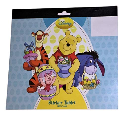 Disney Winnie The Pooh Easter Sticker Tablet ~ Baskets Full of Eggs (319 Stickers; 8.5