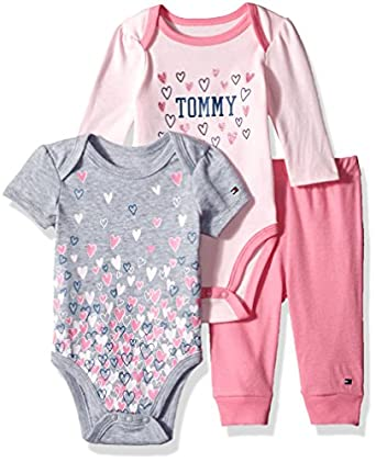 Amazon Tommy Hilfiger Baby Girls 3 Piece Creeper