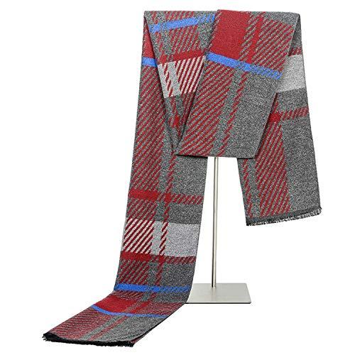 Rouge Tricoté Hiver Écharpe Amdxd Treillis Hommes Laine 180cm Artificielle Rayé vcWzTc