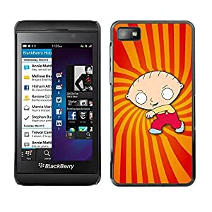 Design for Girls Plastic Cover Case FOR Blackberry Z10 Cartoon Character Boy Drawing Childrens OBBA