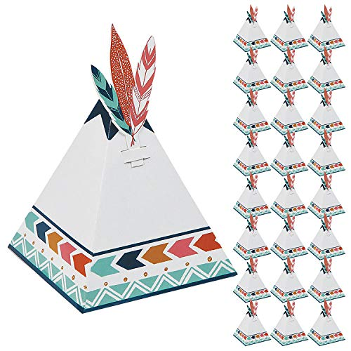 (Boho Tribal Tent Party Favor Boxes - 24 Pack )