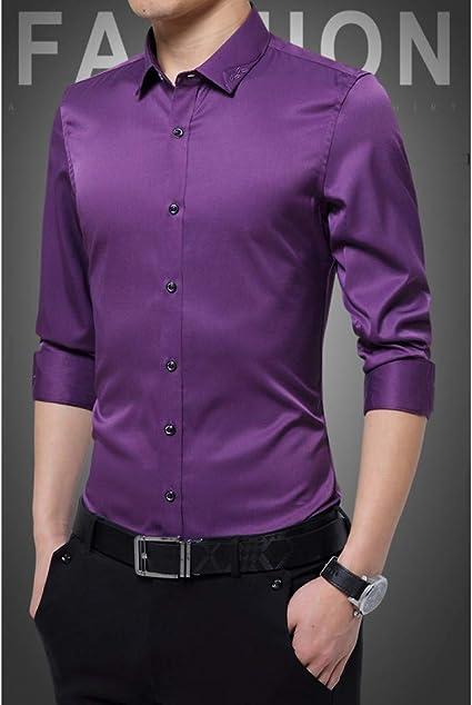 CSDM Camisa de Hombre New Spring 95% Poliéster Fibra Hombres ...