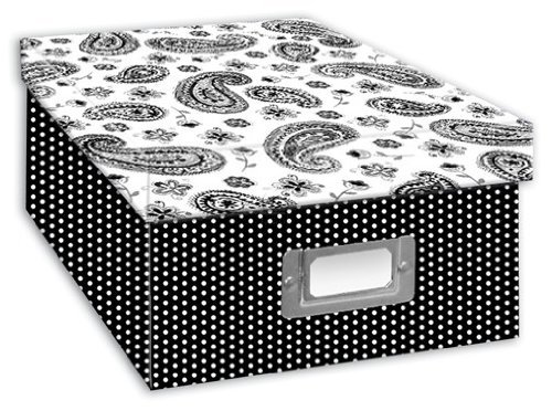 Pioneer Photo Albums B 1Bw Photo Storage Box  Paisley Design