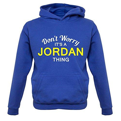 Boys Don't Worry It's a JORDAN Thing! - Kids Hoodie - Blue - XS (1-2 Yrs)