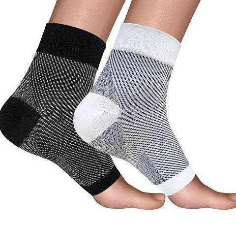 2 Pain Relief Orthotic Compression Socks/Braces for Plantar Fasciitis, Severs Disease, Tendonitis, Heel Pain, Heel Spurs and Foot Cramps! Great Support for High Arches and Flat Feet!