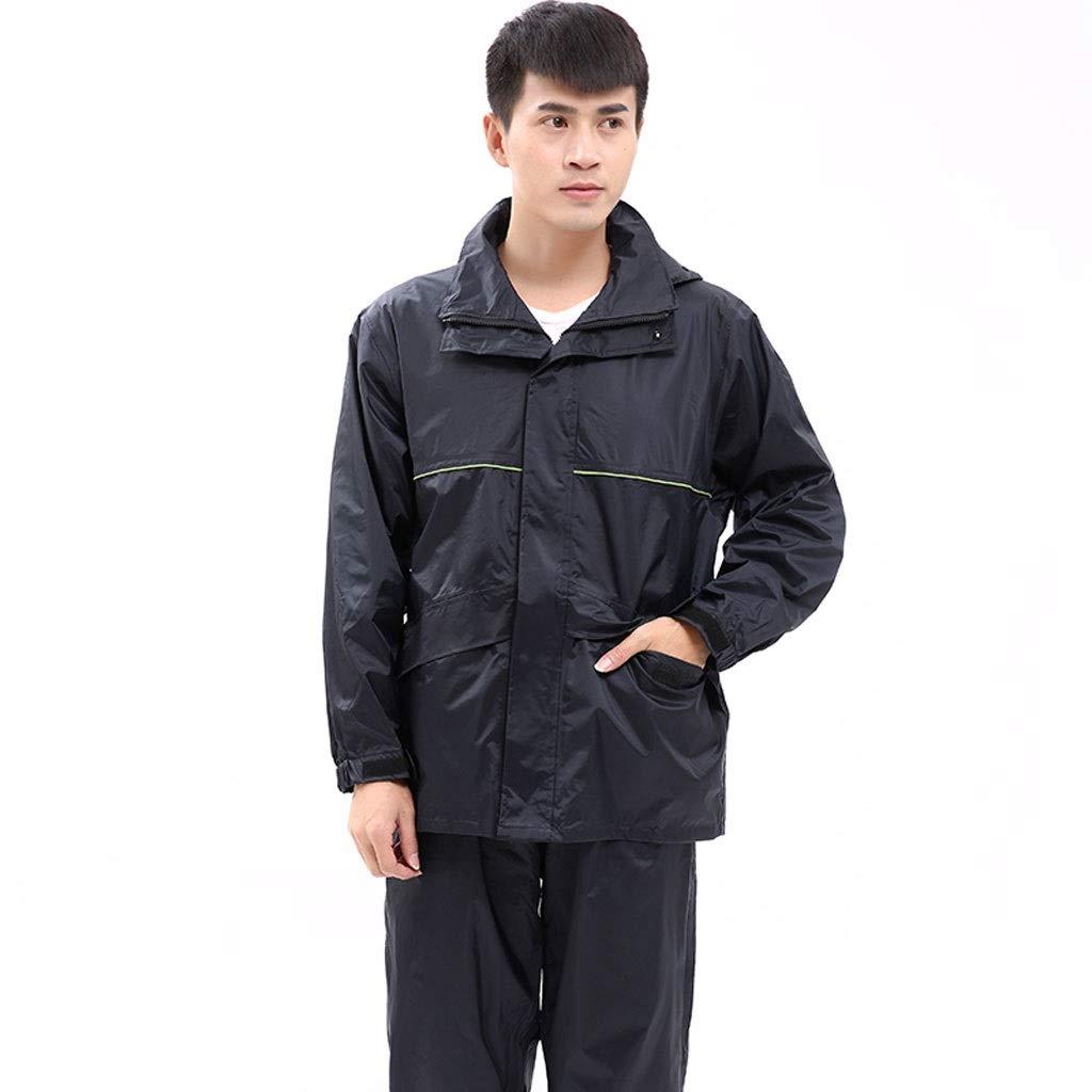 D Medium GXYGWJ Imperméable imperméable avec Enduit de PVC, Capuchon Amovible, Manches de Pluie Ajustables, Pantalon Ajustable, Habillage Pluie imperméable (Couleur   B, Taille   XXXXL)