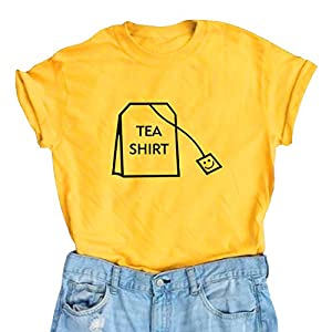 """BLACKOO Women's Casual Short Sleeve Printed Letter T-Shirt Girls Summer Cute Crewneck Tee Tops Shirts.""""BLACKOO"""" is the only supplier authorized to sell products with the """"BLACKOO"""" brand. """" BLACKOO"""" only guarantee our quality, we do not guarantee the ..."""