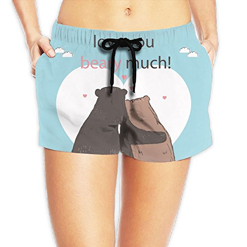 Bahuluo Women's Sexy Hot Pants Couple Bear by Bahuluo