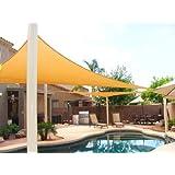 BIG 20'x20'x20' Oversized Triangle Garden Patio Sun Sail Shade 20 ft , Color Desert Sand