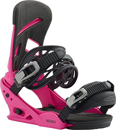 Burton Mission Snowboard Bindings Pink Sz M (8-11)