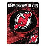 The Northwest Company Officially Licensed NHL New Jersey Devils Ice Dash Micro Raschel Throw Blanket, 46' x 60'