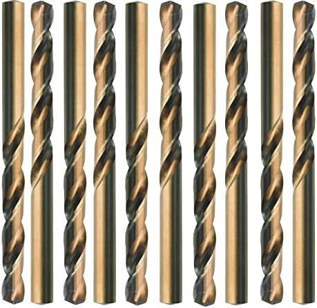 10 HSS-Co Spiralbohrer, DIN 338 Typ N, rechts geschliffen, -gold finish-