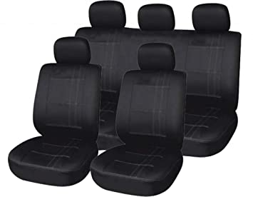 Heavy Duty Black Rear Seat Cover Pet Back For Ford Focus C-MAX C MAX 2003-2010