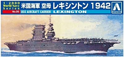 Aoshima 1/2000 World Series No.05 Navy U.s. Navy Aircraft Carrier Lexington 1942 Aoshima by Aoshima