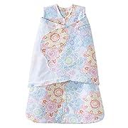 HALO SleepSack Microfleece Swaddle, Ikat Floral, Size Small