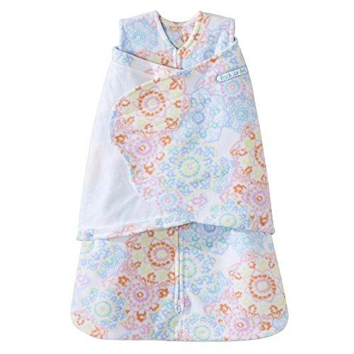 Sleepsack Swaddle Wearable Blanket - Halo Micro Fleece Sleepsack Swaddle Wearable Blanket, Ikat Floral, Newborn