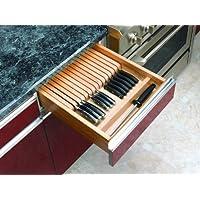 Rev-A-Shelf Organizador de cuchillos de madera para cajones - Inserto para cortar a medida 4WKB-1