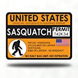 Customize Right Sasquatch Bigfoot Hunting Permit - Sticker Decal Bumper - Gang Gifts hat Costume