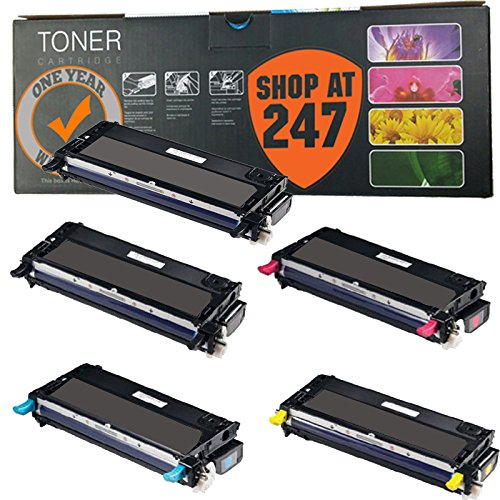Shop At 247 5 Pack Remanufactured Xerox 6180 (113R00726 113R00723 113R00725 113R00724) High Capacity Toner Cartridge Replacement for Phaser 6180, 6180DN, 6180MFP, 6180MFP/D, 6180MFP/N, 6180N