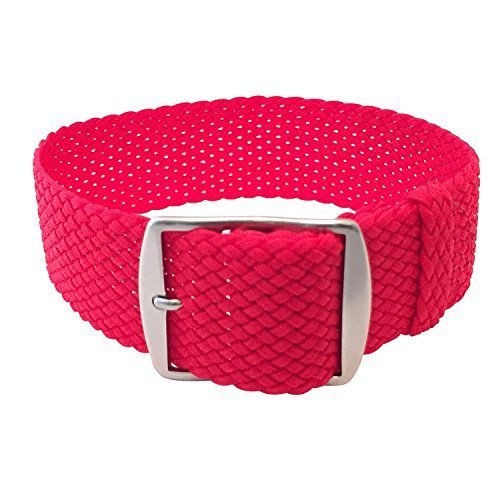 Wrist And Style Perlon Watch Strap - Red   20mm