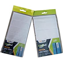 Self Adhesive Label Holder with Blank Insert, Transparent Plastic, 2 sizes, 27 piece Bundle