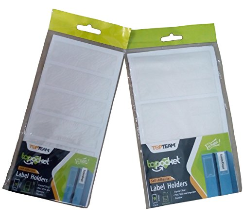 Self Adhesive Label Holder with Blank Insert, 2 sizes, 27 piece Bundle by WalkDisLife Top Pocket (Image #5)