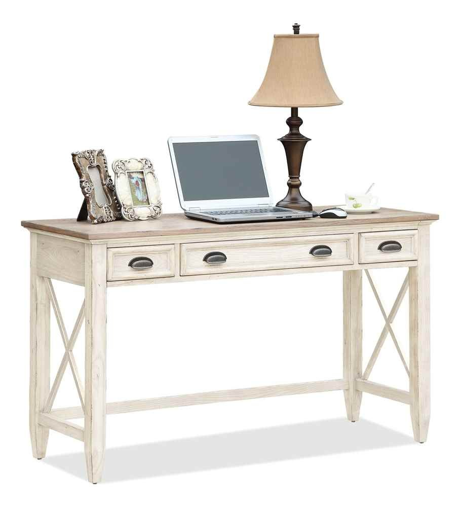 amazoncom coventry two tone writing desk w 2 outside drawers kitchen u0026 dining